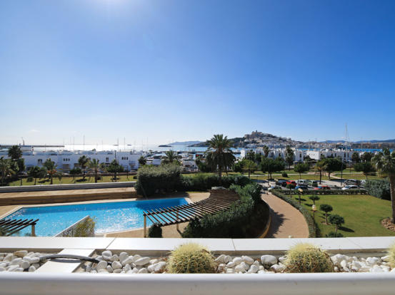 Views of the sea and Dalt Vila