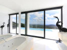 Bathroom with views up to the sea