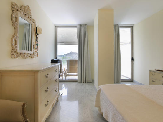 Main bedroom with views to Dalt Vila