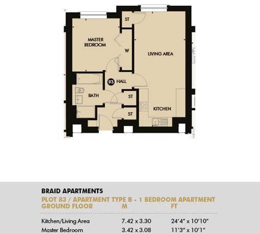 Plot 83 - Pentland Apartments, Plot 83