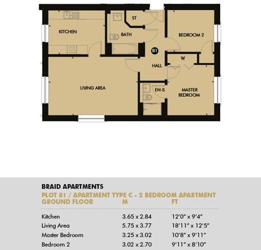 Plot 81 - Pentland Apartments, Plot 81