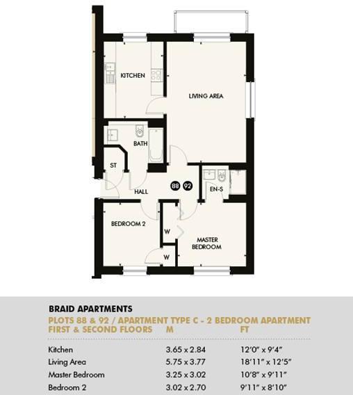 Plot 88 - Pentland Apartments, Plot 88