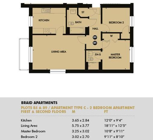 Plot 89 - Braid Apartments, Plot 89