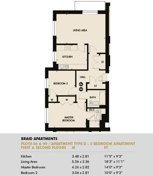 Plot 86 - Pentland Apartments, Plot 86