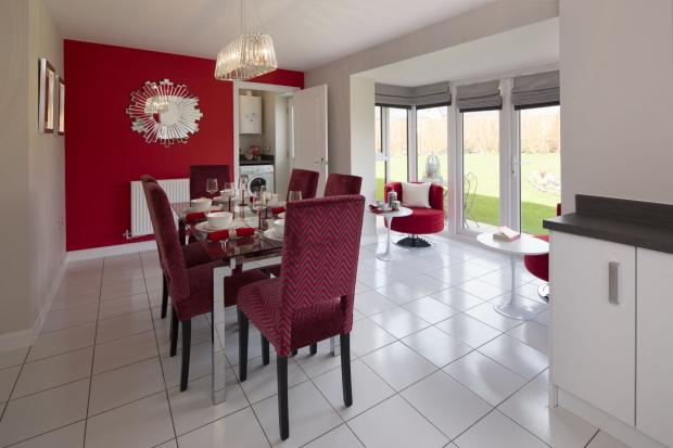 Typical Kennington dining area with glazed bay and French doors