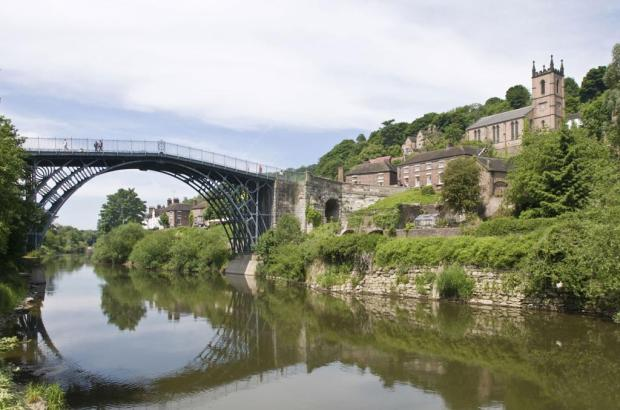 Nearby Telford`s Ironstone Bridge