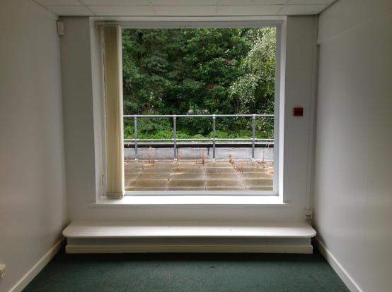 Upstairs patio doors