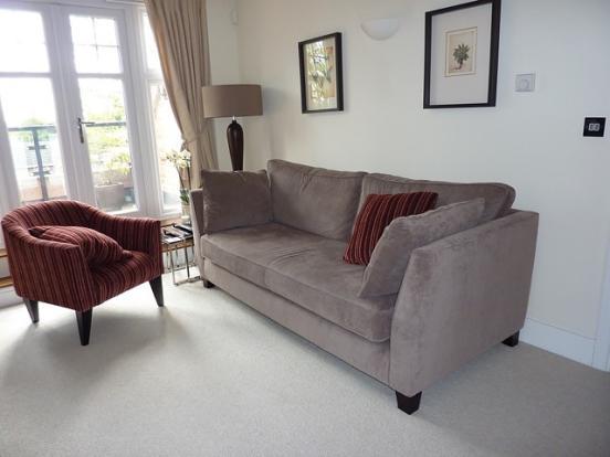 Lounge with balcony