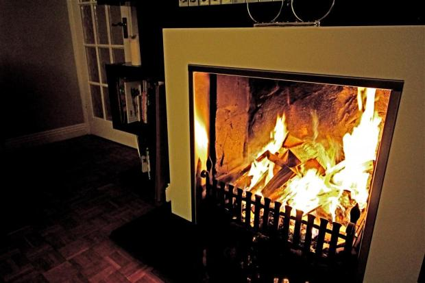 Drawing Room Open Fire