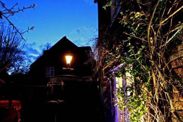 Dusk + Street Lamp