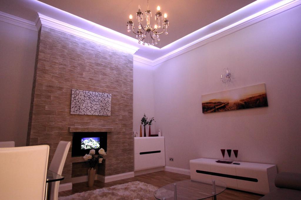 Living Room Lights at Night