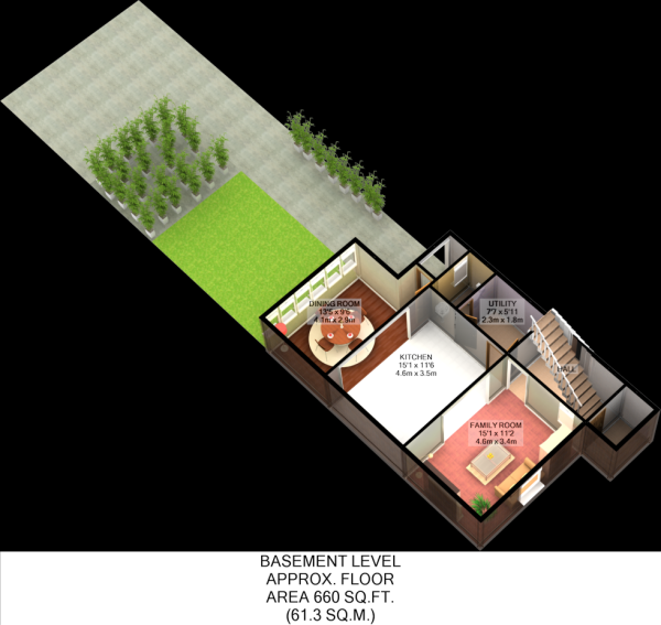 Floorplan 3D (Basement)