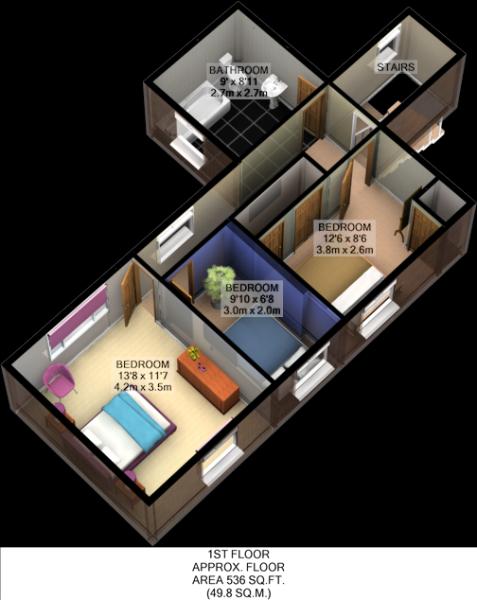 Floorplan 3D (First Floor)