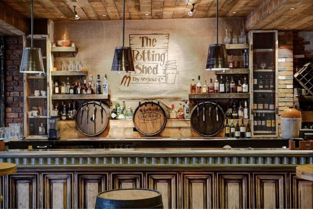 Restaurant for sale in the potting shed potterrow for Garden shed edinburgh sale
