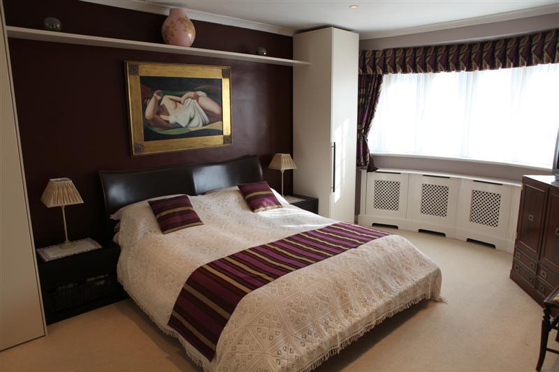 White beige bedroom