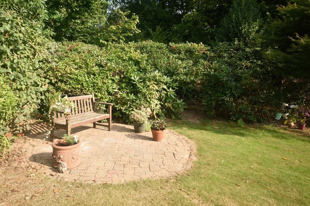 Rear garden bench