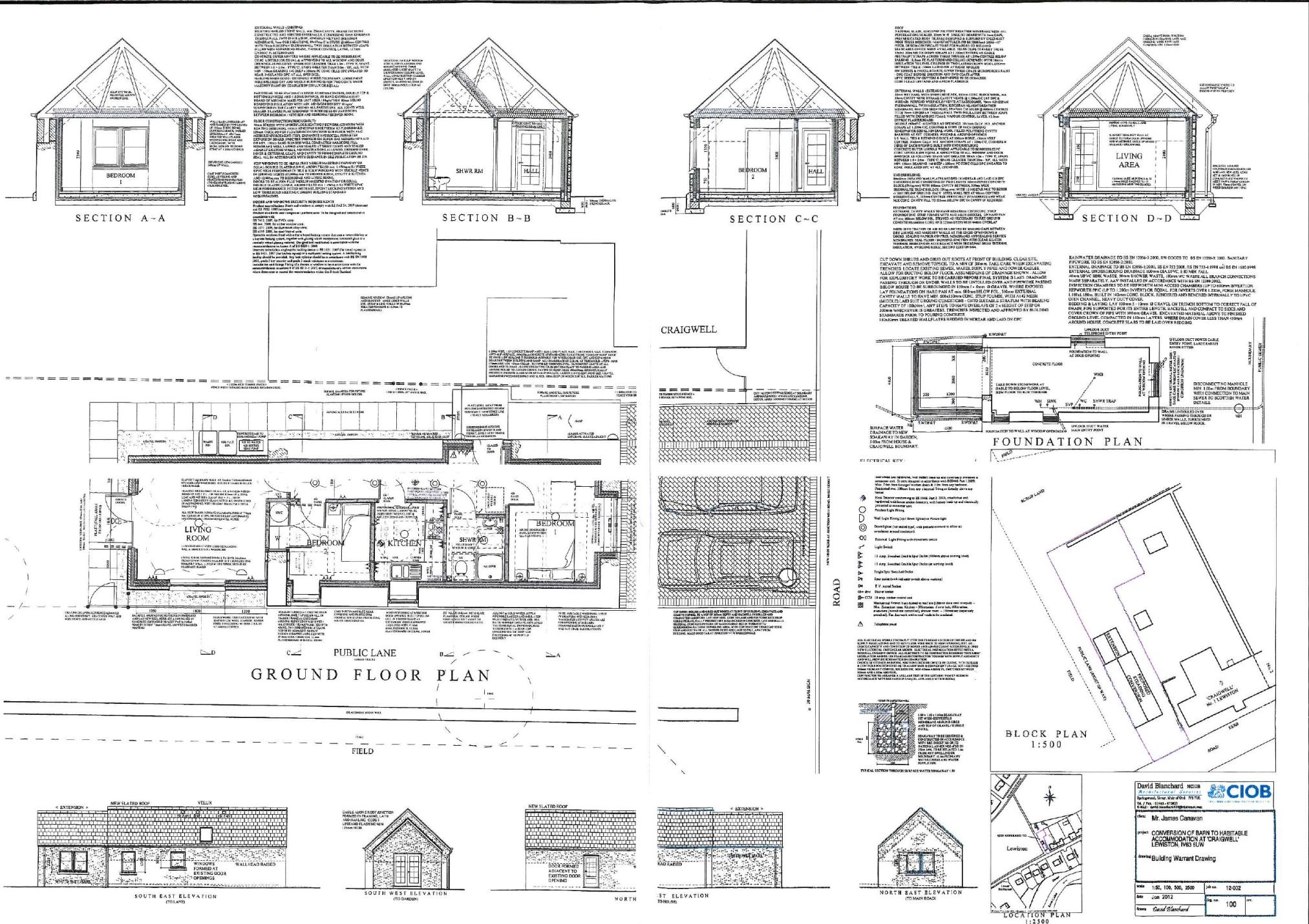 Barn converted to home plans