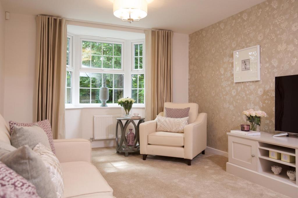Lounge with bay window