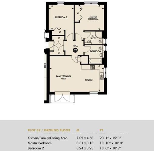 Plot 62 - GOLDEN SHARE HOME - Inveresk Apartments, Plot 62