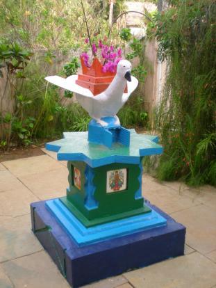 shrine on patio
