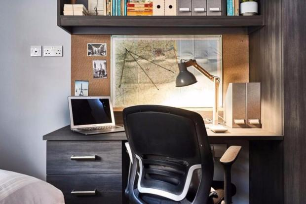 Generous desk spaces