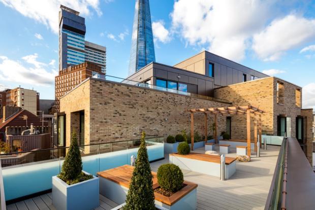 Communal roof terrac