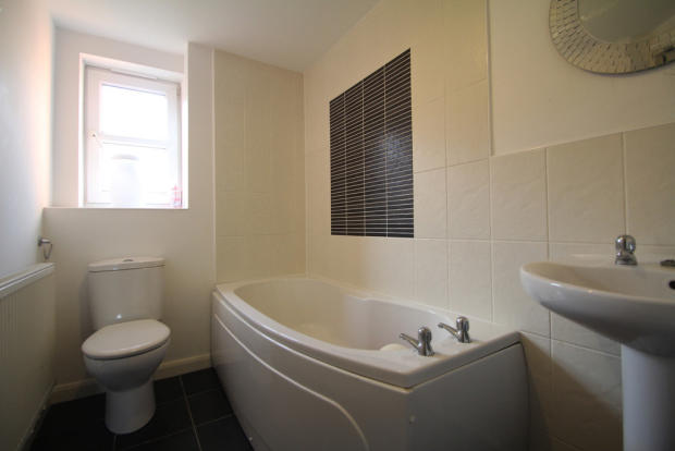 Bathroom with whi...