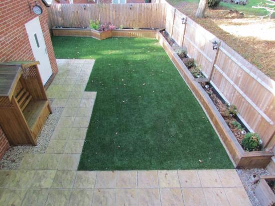 Rear garden ov...