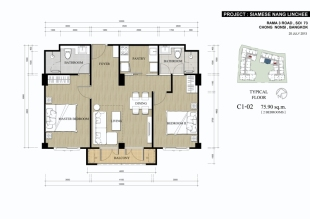 2 bedroom new development in Bangkok, Watthana