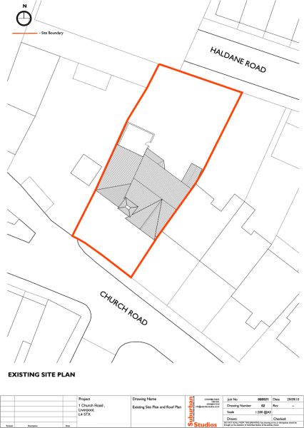 Existing site & roof