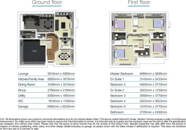 Oakworth floorplans