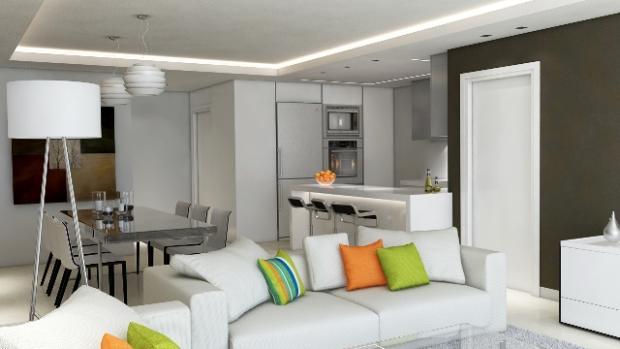 3D Salon cocina