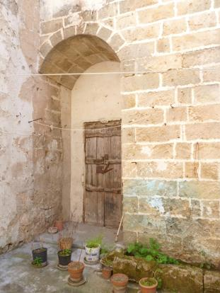 door onto courtyard