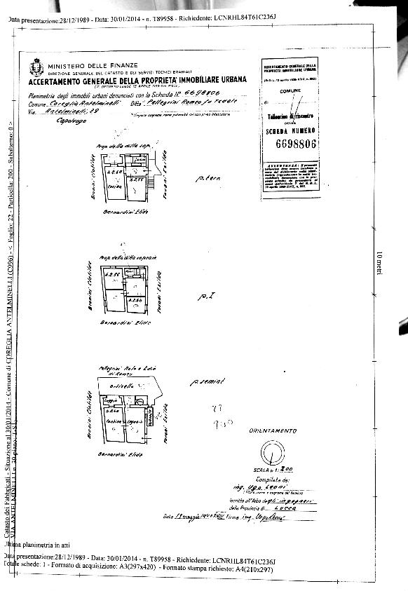 Floor plan and APE