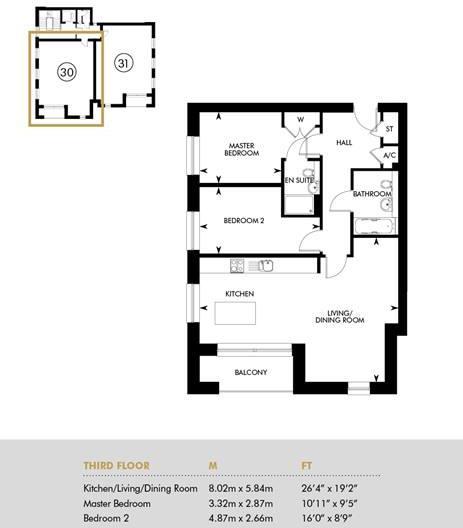 The Ellis - Aria Apartments - Third Floor, Third Floor