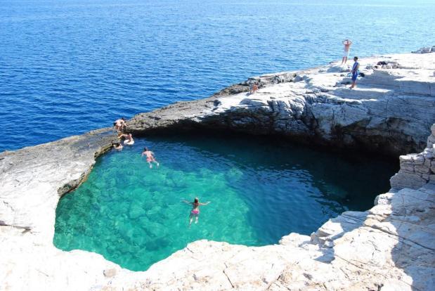 natural marble pool
