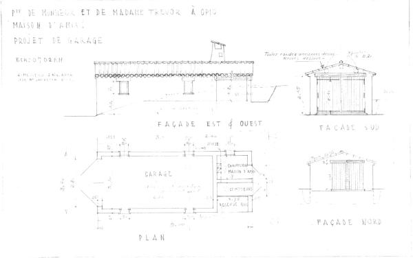 Drawing of existing
