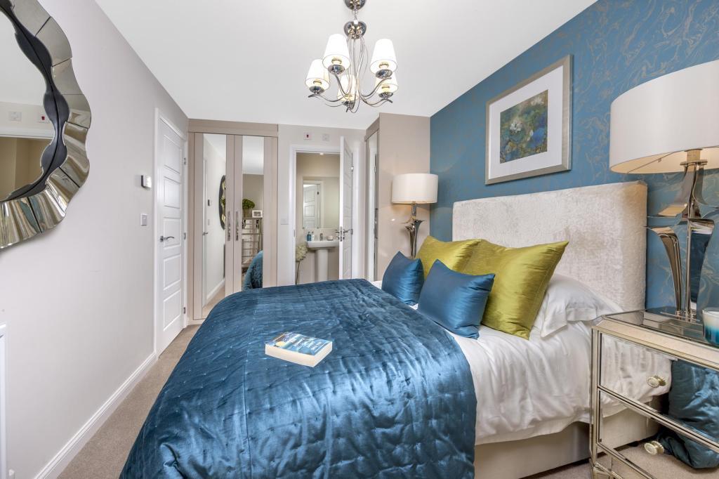 The Barwick master bedroom at Bishop Park, Henfield