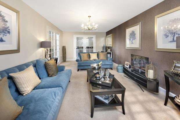 The Harborough livingroom at Bishop Park, Henfield
