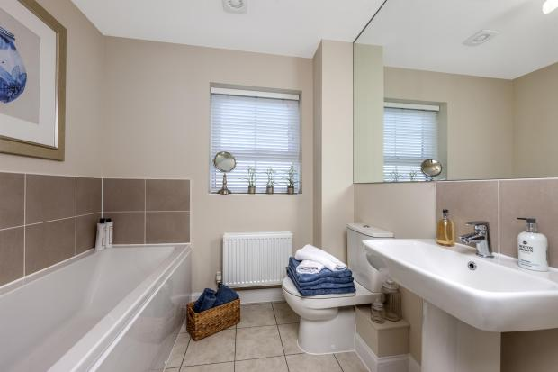 The Harborough family bathroom at Bishop Park, Henfield