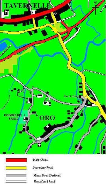 Local roads map