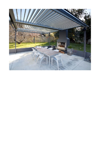 BBQ canopied area