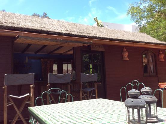 The pool house bar