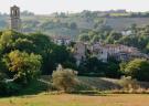 Campanile in village