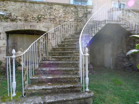 Stairs from terrace