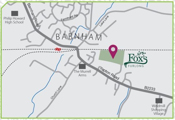 barnham sussex map