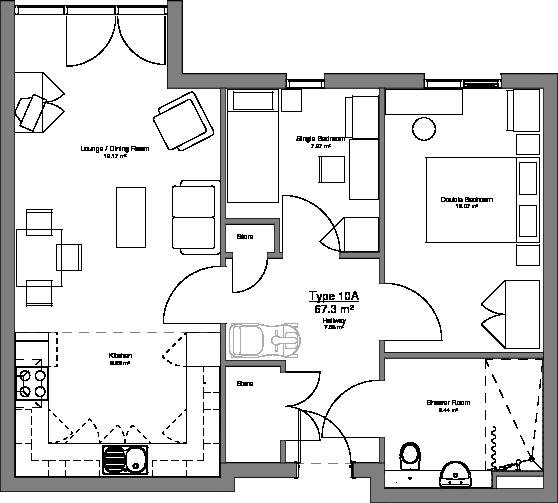 Type 10A Floor Plan
