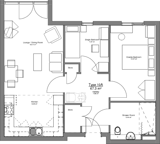 Type 10A Floor Plan