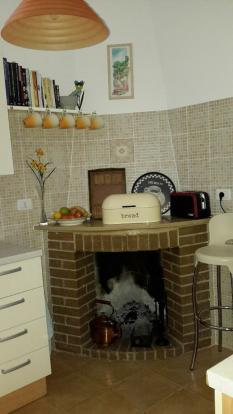 Open Fire in Kitchen