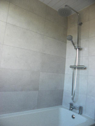 Shower above Bath